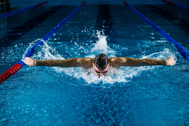 Flywheel training for swimmers