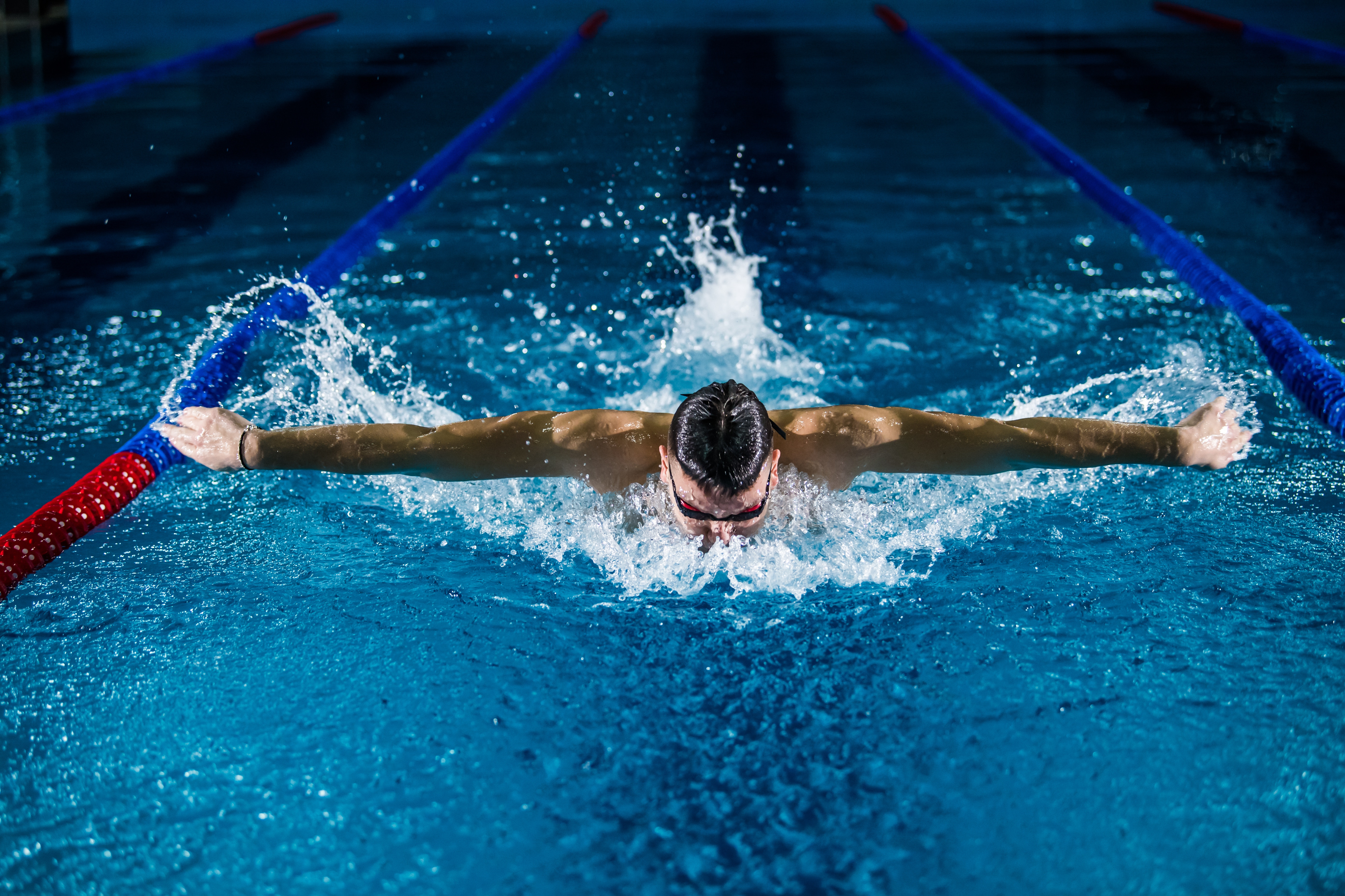 Flywheel training for swimmers